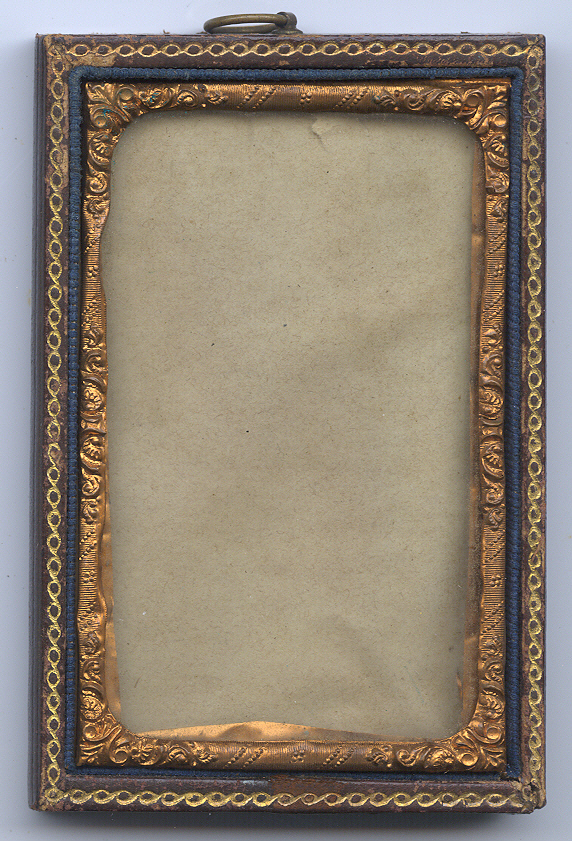 double-sided leather cdv frame
